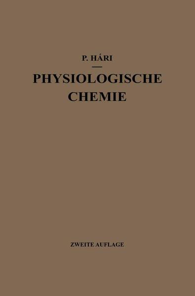 Kurzes Lehrbuch der Physiologischen Chemie - Coverbild