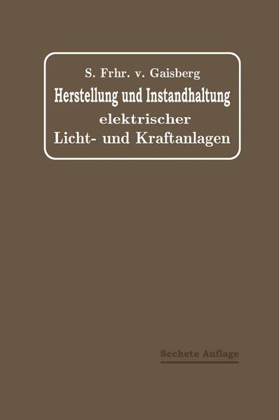 Herstellung und Instandhaltung Elektrischer Licht- und Kraftanlagen - Coverbild