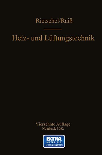 H. Rietschels Lehrbuch der Heiz- und Lüftungstechnik - Coverbild