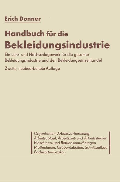 Handbuch für die Bekleidungsindustrie - Coverbild