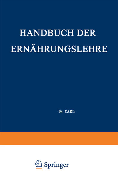 Handbuch der Ernährungslehre - Coverbild