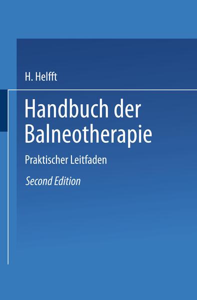 Handbuch der Balneotherapie - Coverbild