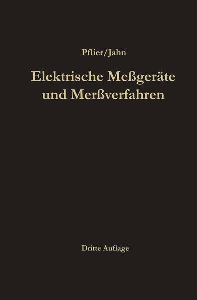 Elektrische Meßgeräte und Meßverfahren - Coverbild