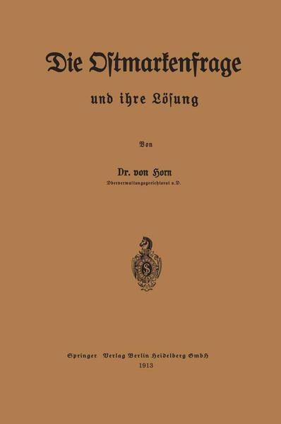 Die Ostmarkenfrage und ihre Lösung - Coverbild