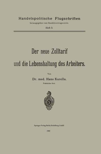 Der neue Zolltarif und die Lebenshaltung des Arbeiters. - Coverbild