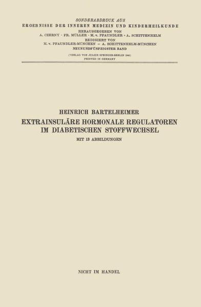 Extrainsuläre hormonale Regulatoren im diabetischen Stoffwechsel - Coverbild
