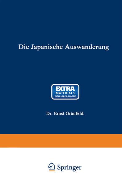 Die Japanische Auswanderung - Coverbild