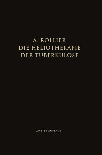 Die Heliotherapie der Tuberkulose - Coverbild