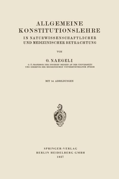 Allgemeine Konstitutionslehre - Coverbild