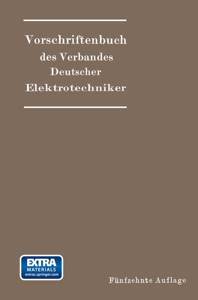 Vorschriftenbuch des Verbandes Deutscher Elektrotechniker - Coverbild