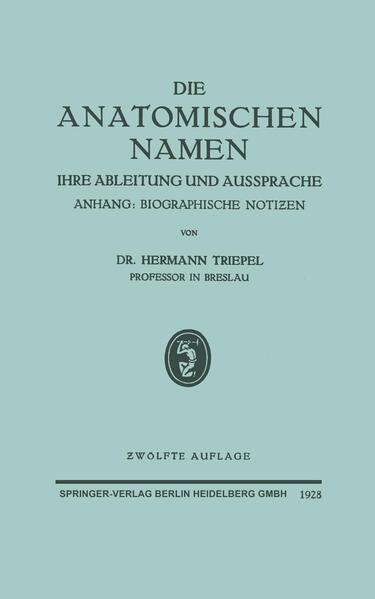 Die Anatomischen Namen - Coverbild