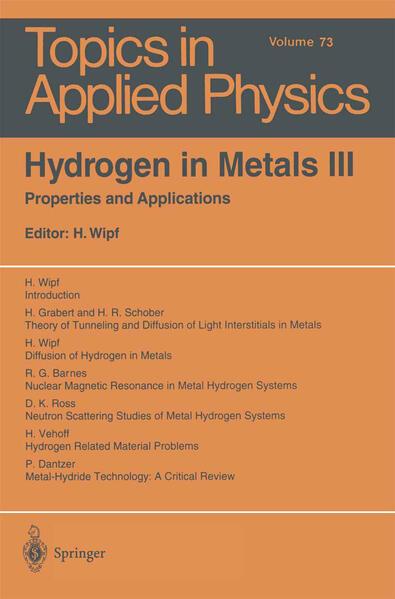 Hydrogen in Metals III - Coverbild