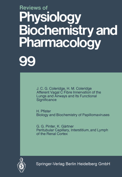 Reviews of Physiology, Biochemistry and Pharmacology - Coverbild
