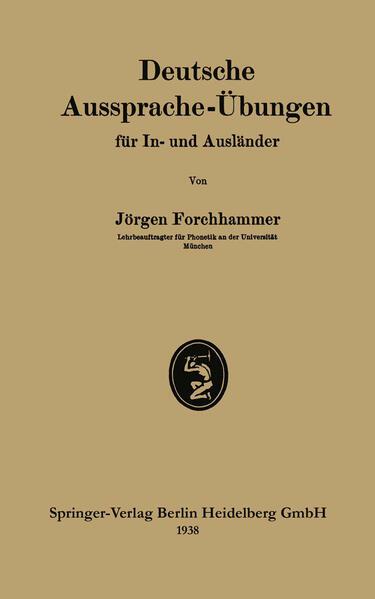 Deutsche Aussprache-Übungen für In- und Ausländer - Coverbild