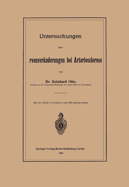 Untersuchungen über Sehnervenveränderungen bei Arteriosclerose - Coverbild