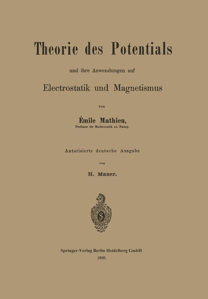 Theorie des Potentials und ihre Anwendungen auf Electrostatik und Magnetismus - Coverbild