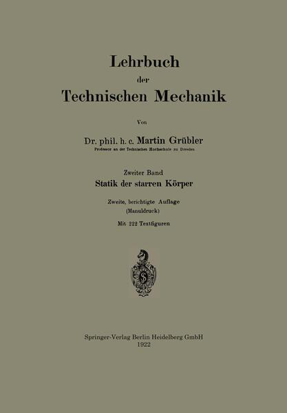 Lehrbuch der Technischen Mechanik - Coverbild