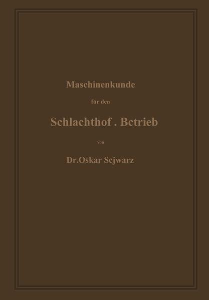 Maschinenkunde für den Schlachthof-Betrieb - Coverbild