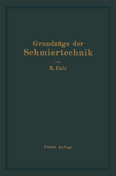 Grundzüge der Schmiertechnik - Coverbild