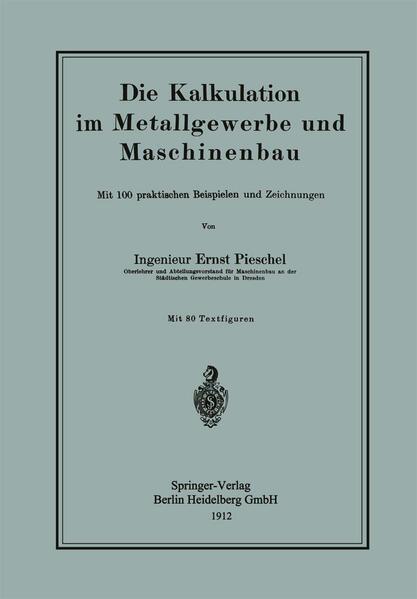 Die Kalkulation im Metallgewerbe und Maschinenbau - Coverbild