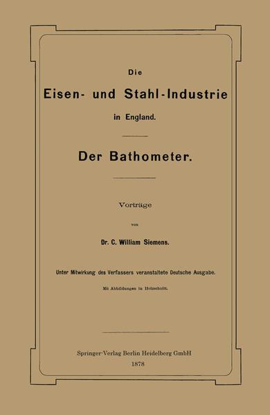 Die Eisen- und Stahl-Industrie in England - Coverbild