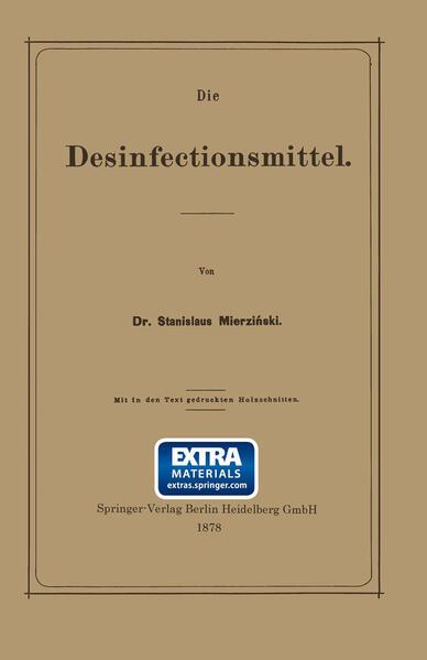 Die Desinfectionsmittel - Coverbild