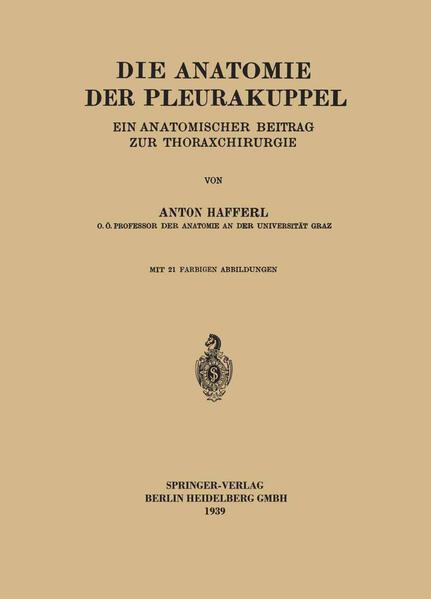 Die Anatomie der Pleurakuppel - Coverbild