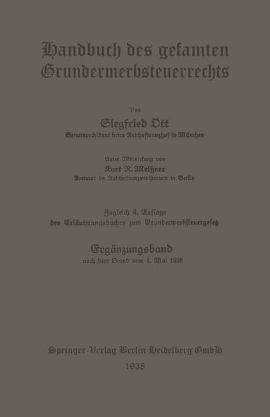 Handbuch des gesamten Grunderwerbsteuerrechts - Coverbild
