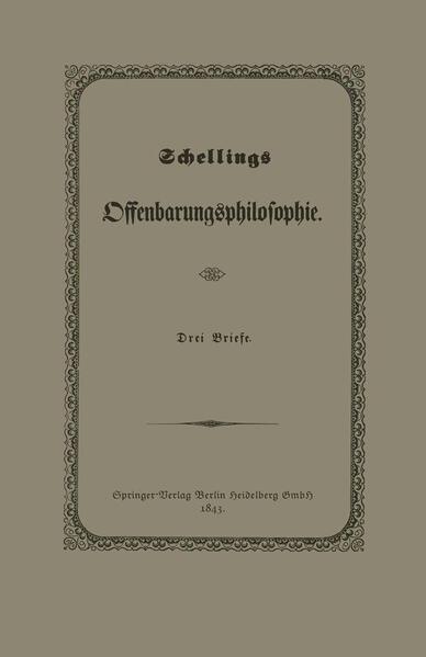 Schellings Offenbarungsphilosophie - Coverbild