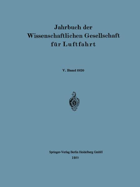 Jahrbuch der Wissenschaftlichen Gesellschaft für Luftfahrt - Coverbild