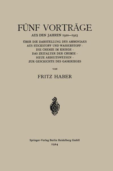 Fünf Vorträge aus den Jahren 1920–1923 - Coverbild