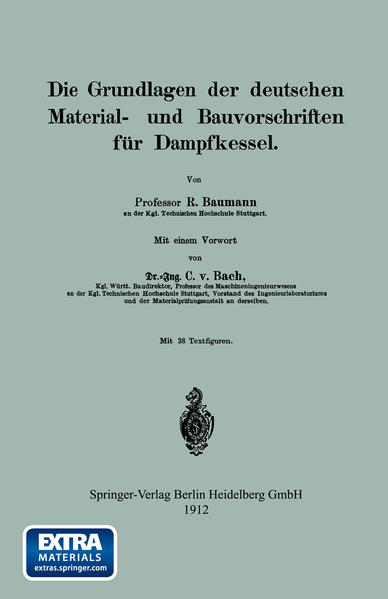 Die Grundlagen der deutschen Material- und Bauvorschriften für Dampfkessel - Coverbild