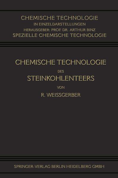 Chemische Technologie des Steinkohlenteers - Coverbild
