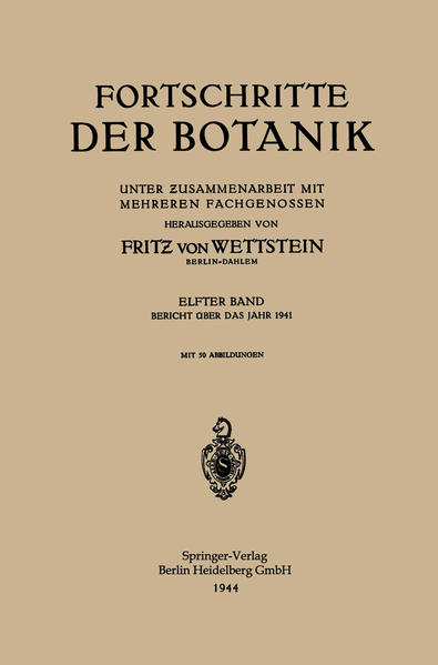 Fortschritte der Botanik - Coverbild