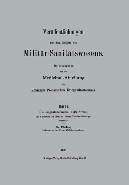 Die Lungentuberkulose in der Armee - Coverbild
