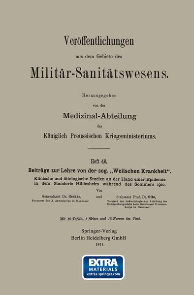 """Beiträge zur Lehre von der sog. """"Weilschen Krankheit"""" - Coverbild"""