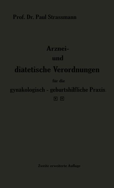 Arznei- und diätetische Verordnungen für die gynäkologisch-geburtshilfliche Praxis aus der Frauenklinik - Coverbild