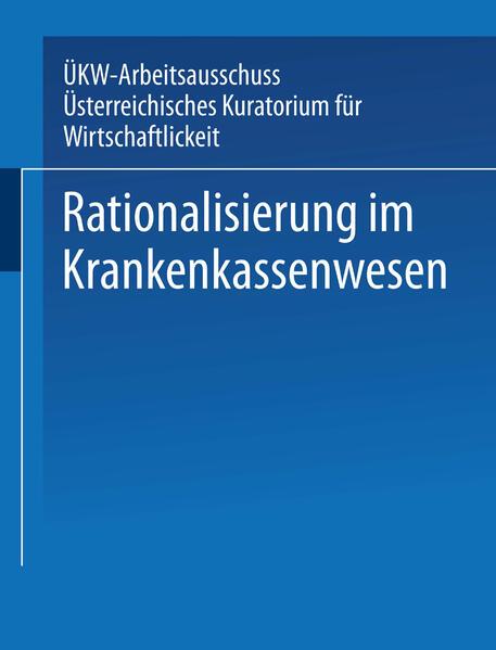 Rationalisierung im Krankenkassenwesen - Coverbild