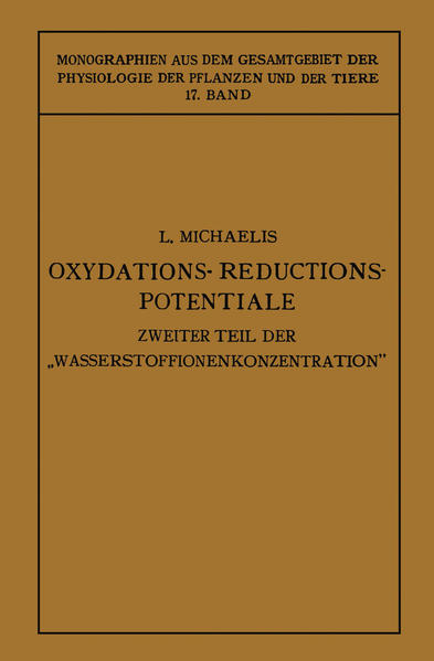 Oxydations-Reductions-Potentiale - Coverbild
