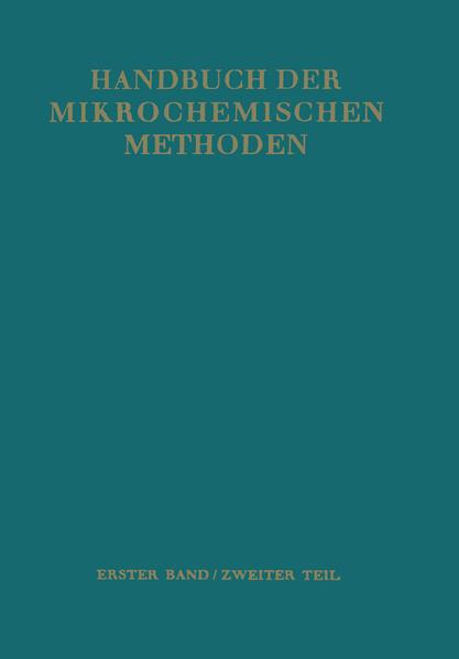 Waagen und Geräte zur Anorganischen Mikro-Gewichtsanalyse - Coverbild