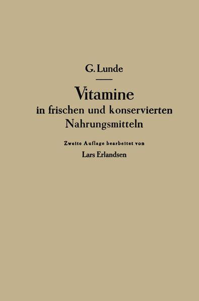 Vitamine in frischen und konservierten Nahrungsmitteln - Coverbild