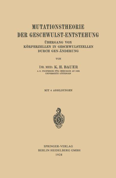 Mutationstheorie der Geschwulst-Entstehung - Coverbild