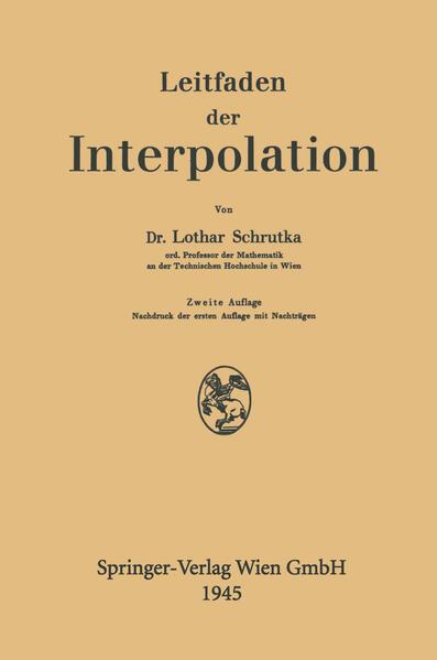 Leitfaden der Interpolation - Coverbild