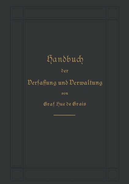 Handbuch der Verfassung und Verwaltung in Preußen und dem Deutschen Reiche - Coverbild