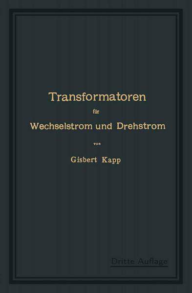 Transformatoren für Wechselstrom und Drehstrom - Coverbild