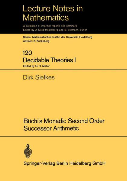 Büchi's Monadic Second Order Successor Arithmetic - Coverbild