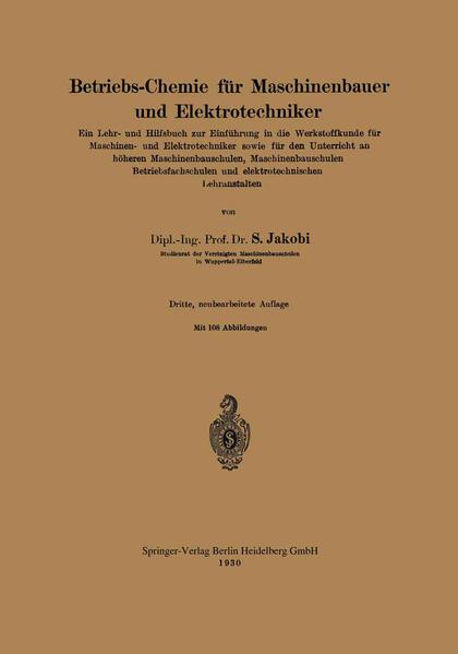 Betriebs-Chemie für Maschinenbauer und Elektrotechniker - Coverbild