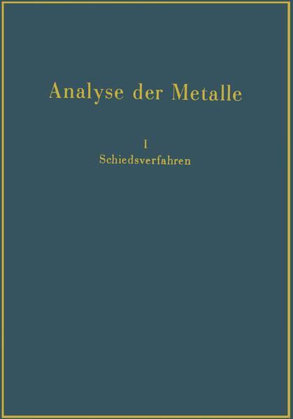 Analyse der Metalle - Coverbild