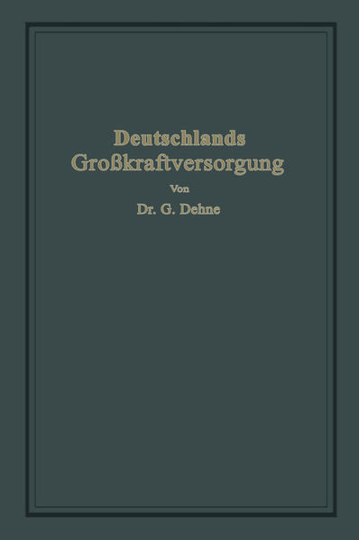 Deutschlands Großkraftversorgung - Coverbild
