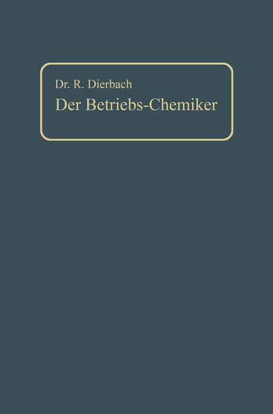 Der Betriebs-Chemiker - Coverbild